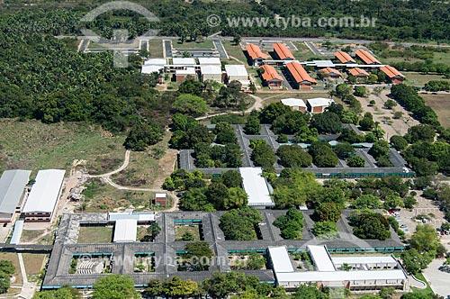 Foto aérea do Centro de Ciências da Educação, Centro de Ciências Humanas e Centro de Tecnologia da Universidade Federal do Piauí - Campus Teresina Ministro Petrônio Portella  - Teresina - Piauí (PI) - Brasil