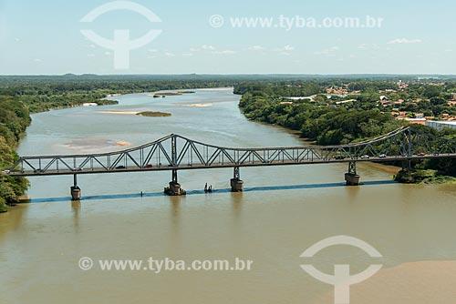 Foto aérea da Ponte João Luís Ferreira - também conhecida como Ponte Metálica  - Teresina - Piauí (PI) - Brasil
