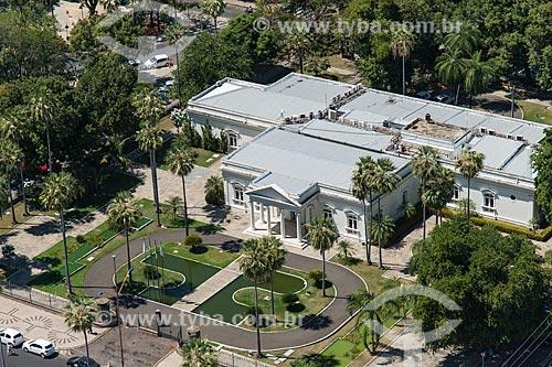 Foto aérea do Palácio Karnak (1933) - sede do Governo do Estado  - Teresina - Piauí (PI) - Brasil