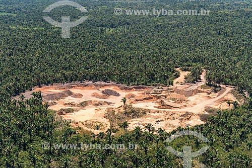 Foto aérea de área de extração de areia na Mata dos Cocais  - Teresina - Piauí (PI) - Brasil