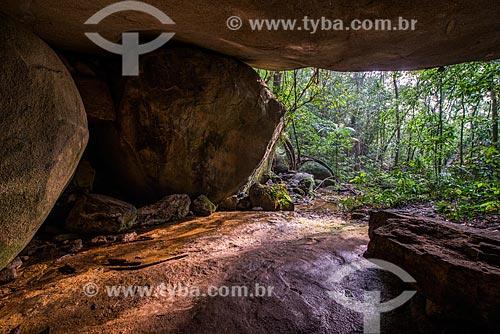 Interior da Gruta Gabriela no Parque Nacional da Tijuca  - Rio de Janeiro - Rio de Janeiro (RJ) - Brasil