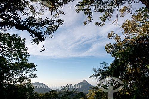 Vista da Pedra da Gávea a partir do Mirante do Almirante  - Rio de Janeiro - Rio de Janeiro (RJ) - Brasil