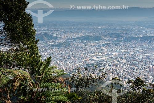 Vista geral da zona norte a partir do Pico da Tijuca  - Rio de Janeiro - Rio de Janeiro (RJ) - Brasil