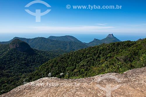 Vista da Pedra da Gávea a partir do cume do Tijuca Mirim  - Rio de Janeiro - Rio de Janeiro (RJ) - Brasil