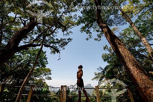 Homem no Mirante do Almirante  - Rio de Janeiro - Rio de Janeiro (RJ) - Brasil