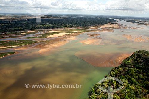 Foz do Rio Doce no distrito de Regência antes da chegada da lama do rompimento de barragem de rejeitos da Mineradora Samarco de Mariana (MG)  - Linhares - Espírito Santo (ES) - Brasil