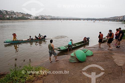 Operação Arca de Noé - operação para coletar peixes no Rio Doce e transportá-los para tanques antes da chegada da lama contaminada por metais pesados como arsênio, cádmio, chumbo, cromo e níquel  - Colatina - Espírito Santo (ES) - Brasil