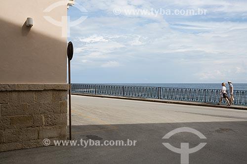 Orla da Ilha Ortígia - às margens do Mar Jônico  - Siracusa - Província de Siracusa - Itália