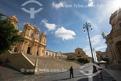 Fachada da Cattedrale di San Nicolò di Mira (Catedral de São Nicolau de Mira) - 1776  - Noto - Província de Siracusa - Itália