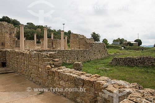Entrada da Villa Romana del Casale - antigo palácio construído no século IV  - Piazza Armerina - Província de Enna - Itália