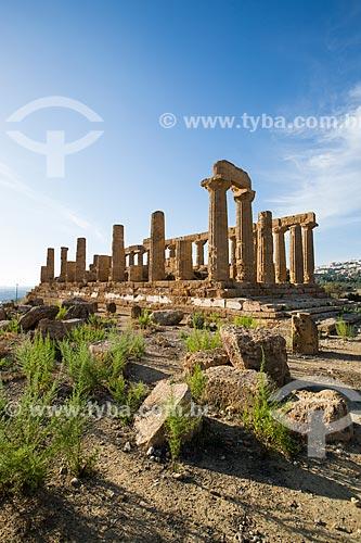 Templo de Juno no Valle dei Templi (Vale dos Templos) - antiga cidade grega de Akragas  - Agrigento - Província de Agrigento - Itália