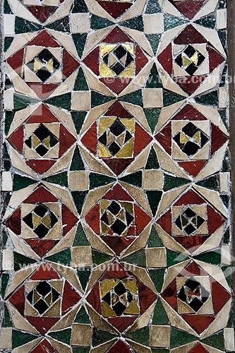 Detalhe de mosaico no interior da Duomo di Monreale (Catedral de Monreale)  - Monreale - Província de Palermo - Itália