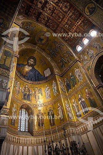 Mosaicos no interior da Duomo di Monreale (Catedral de Monreale)  - Monreale - Província de Palermo - Itália