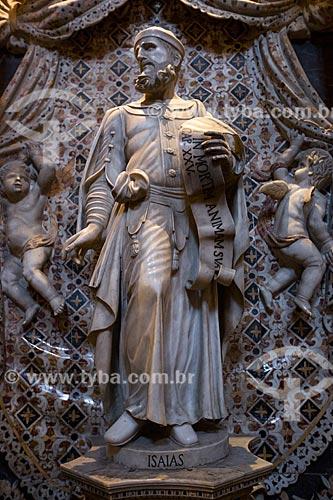 Estátua do profeta Isaías na capela da Duomo di Monreale (Catedral de Monreale)  - Monreale - Província de Palermo - Itália