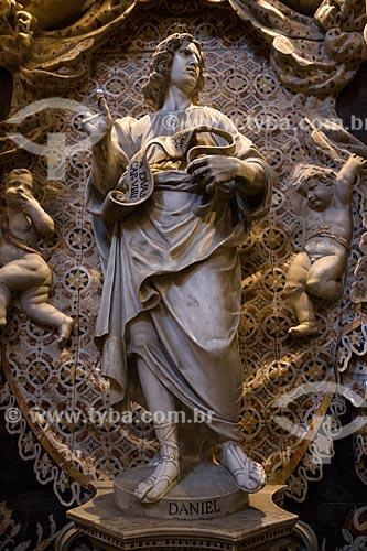 Estátua do profeta Daniel na capela da Duomo di Monreale (Catedral de Monreale)  - Monreale - Província de Palermo - Itália