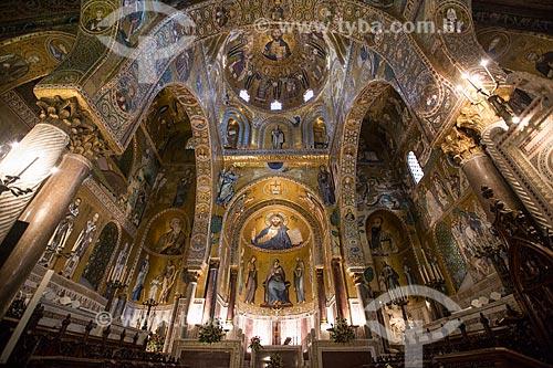 Interior da Capela Palatina - Duomo di Monreale (Catedral de Monreale)  - Monreale - Província de Palermo - Itália
