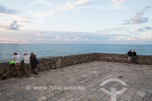 Vista do Mar Tirreno a partir da antiga marina da cidade de Cefalù  - Cefalù - Província de Palermo - Itália