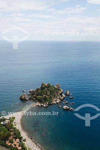 Vista da Isola Bella (Ilha Bela) na orla da cidade de Taormina  - Taormina - Província de Messina - Itália