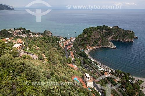 Vista da orla da cidade de Taormina  - Taormina - Província de Messina - Itália