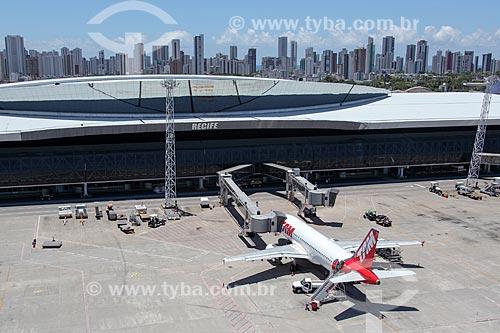 Avião da TAM Linhas Aéreas no Aeroporto Internacional do Recife/Guararapes - Gilberto Freyre (1958)  - Recife - Pernambuco (PE) - Brasil
