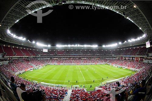 Interior da Itaipava Arena Pernambuco (2013) durante a partida inaugural entre Náutico x Sporting (Portugal)  - São Lourenço da Mata - Pernambuco (PE) - Brasil