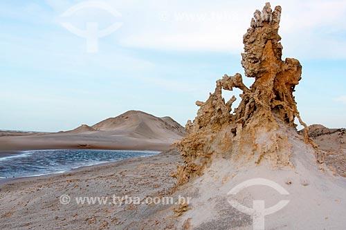 Escultura em areia na praia de Jijoca de Jericoacoara  - Jijoca de Jericoacoara - Ceará (CE) - Brasil
