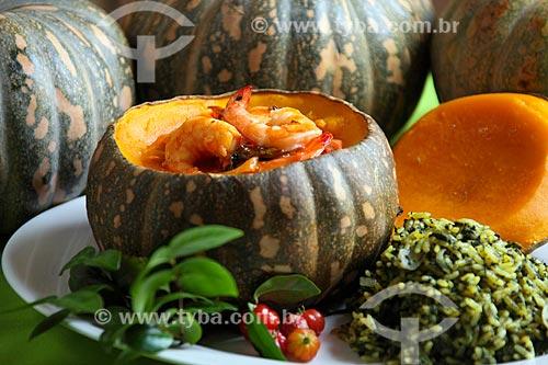 Detalhe de camarão no jerimum  - Recife - Pernambuco (PE) - Brasil