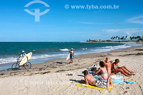 Banhistas na Praia de Jacumã  - Ceará-Mirim - Rio Grande do Norte (RN) - Brasil