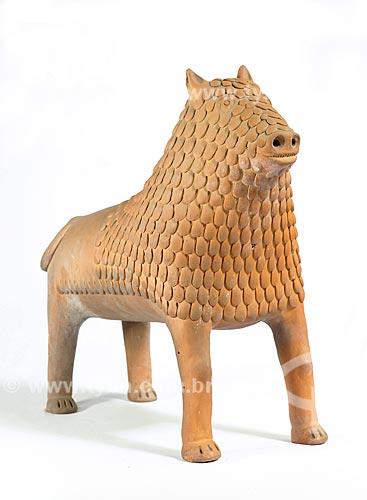 Leão de barro do Mestre Nuca  - Tracunhaém - Pernambuco (PE) - Brasil