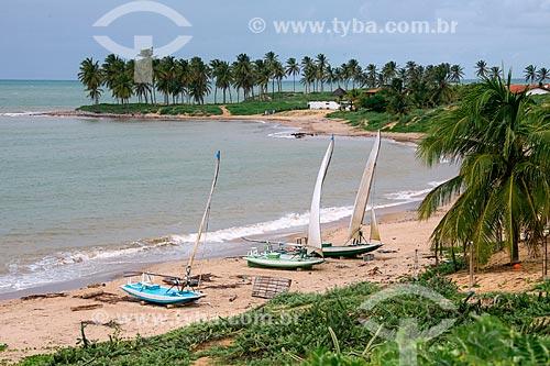 Jangadas na Praia de Maracajú  - Maxaranguape - Rio Grande do Norte (RN) - Brasil