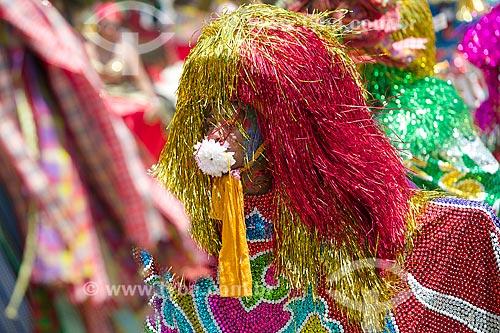 Folião no encontro de Maracatu Rural - também conhecido como Maracatu de Baque Solto - durante o Carnaval de Olinda  - Olinda - Pernambuco (PE) - Brasil