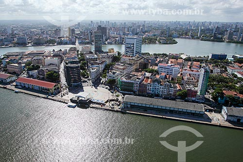 Foto aérea da Praça do Rio Branco - também conhecido como Marco Zero  - Recife - Pernambuco (PE) - Brasil