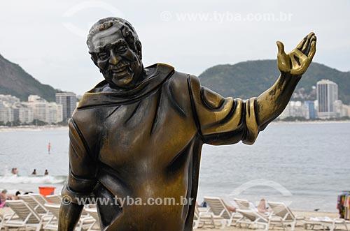 Estátua do cantor Dorival Caymmi (2008) no Posto 6  - Rio de Janeiro - Rio de Janeiro (RJ) - Brasil