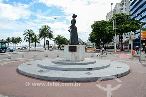 Estátua da Princesa Isabel (2003) na Avenida Princesa Isabel  - Rio de Janeiro - Rio de Janeiro (RJ) - Brasil