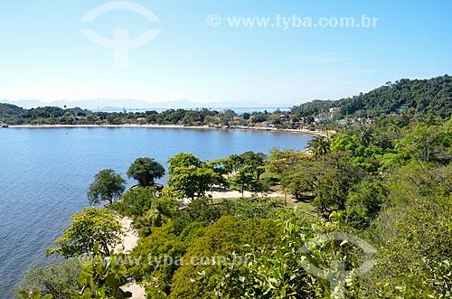 Vista do Parque Darke de Mattos na Ilha de Paquetá a partir do Mirante da Boa Vista   - Rio de Janeiro - Rio de Janeiro (RJ) - Brasil