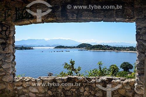Vista da Baía de Guanabara na Ilha de Paquetá a partir do Mirante da Boa Vista  - Rio de Janeiro - Rio de Janeiro (RJ) - Brasil