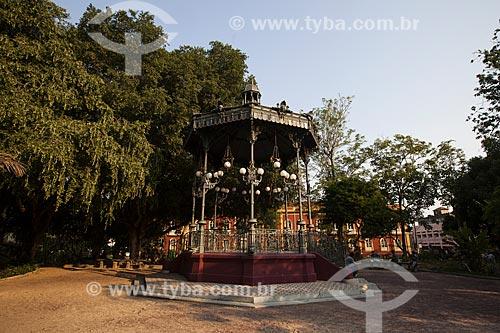 Coreto no Praça Heliodoro Balbi - também conhecida como Praça da Polícia  - Manaus - Amazonas (AM) - Brasil