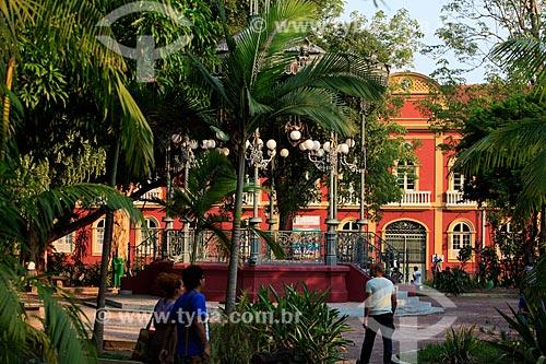 Vista do Palacete Provincial (1874) - hoje abriga diversos museus - Praça Heliodoro Balbi - também conhecida como Praça da Polícia  - Manaus - Amazonas (AM) - Brasil