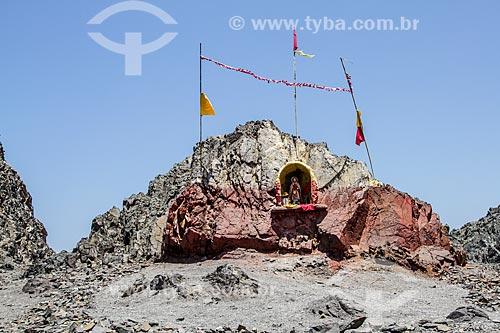 Gruta com imagem religiosa na Playa los Verdes (Praia de Los Verdes)  - Iquique - Província de Iquique - Chile