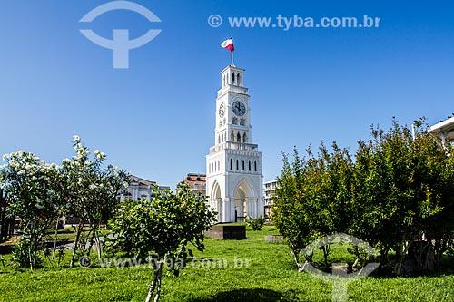 Torre del Reloj (Torre do Relógio) - 1878 - na Plaza Arturo Prat (Praça Arturo Prat) - construída quando Iquique pertencia ao território peruano  - Iquique - Província de Iquique - Chile