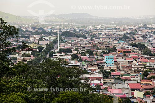 Vista do bairro de Realengo a partir da Serra do Barata - Parque Estadual da Pedra Branca  - Rio de Janeiro - Rio de Janeiro (RJ) - Brasil