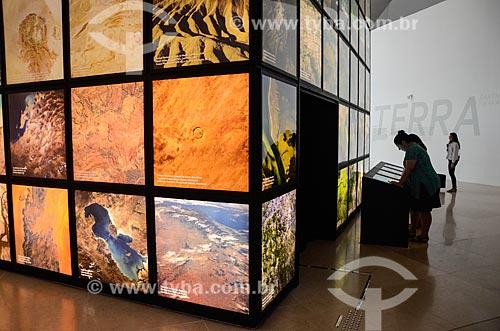 Instalação Matéria - representando um dos três aspectos essenciais do planeta - no Museu do Amanhã  - Rio de Janeiro - Rio de Janeiro (RJ) - Brasil
