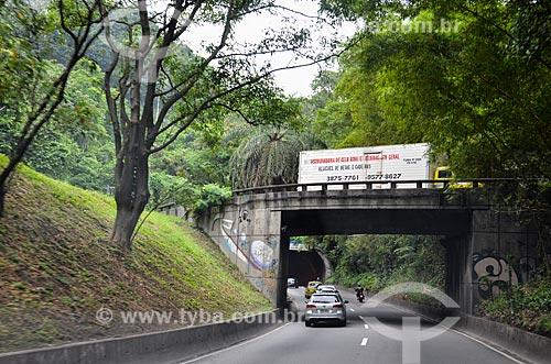 Entrada do Túnel Zuzu Angel sentido São Conrado  - Rio de Janeiro - Rio de Janeiro (RJ) - Brasil