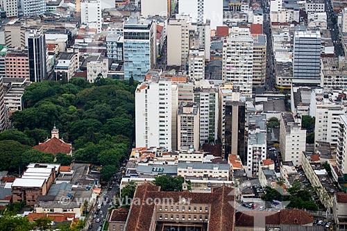 Vista da cidade de Juiz de Fora a partir do Mirante Salles de Oliveira - mais conhecido como Mirante do Cristo  - Juiz de Fora - Minas Gerais (MG) - Brasil