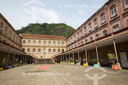 Pátio do Campus Academia do Comércio (1891) - atualmente Colégio Cristo Redentor do Centro de Ensino Superior de Juiz de Fora (CES/JF)  - Juiz de Fora - Minas Gerais (MG) - Brasil