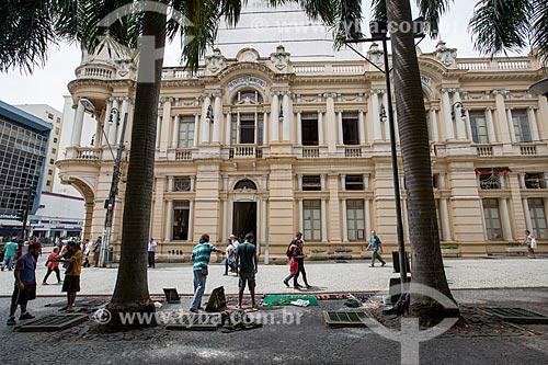 Fachada do Paço Municipal de Juiz de Fora - antigo prédio da Prefeitura  - Juiz de Fora - Minas Gerais (MG) - Brasil