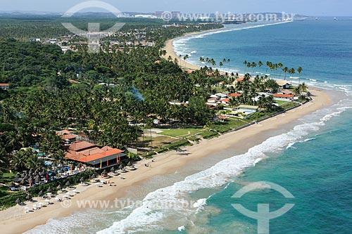 Vista geral da orla da Praia do Cupe  - Ipojuca - Pernambuco (PE) - Brasil