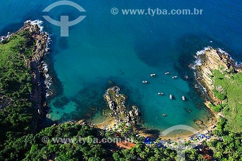 Foto aérea da orla da Praia de Calhetas  - Cabo de Santo Agostinho - Pernambuco (PE) - Brasil