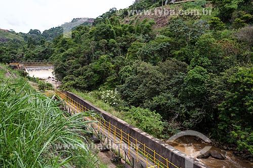 Vertedouro da Usina Hidrelétrica de Marmelos (1889) - primeira grande usina hidrelétrica da América do Sul  - Juiz de Fora - Minas Gerais (MG) - Brasil