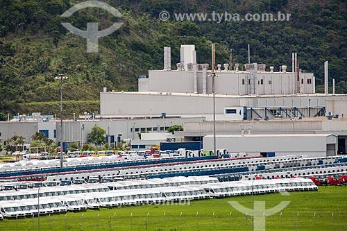 Pátio da montadora Mercedes-Benz no Km 773 da Rodovia BR-040  - Juiz de Fora - Minas Gerais (MG) - Brasil